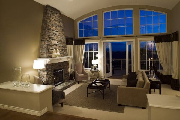 living room estate mansion home windows