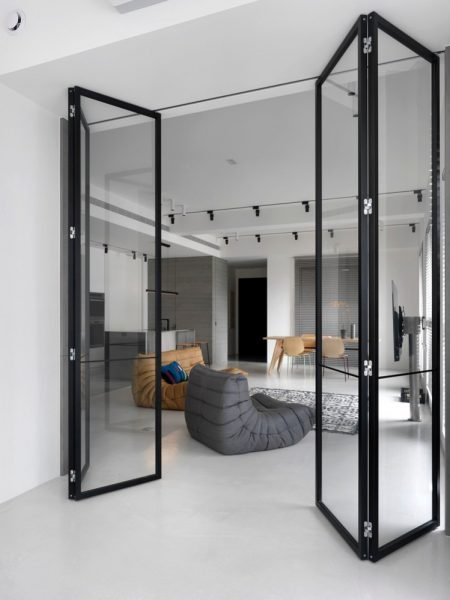 folding glass doors partition