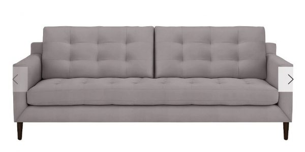 synthetic velvet sofa