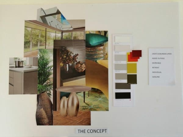 concept board for home decor